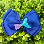 Laço Infantil Cauda De Sereia Azul Marinho Euro Baby