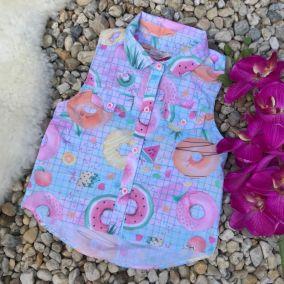 Camisa Infantil Donuts Frutas Mon Sucre