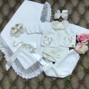 Kit Saida De Maternidade Cambridge Off White Drilu
