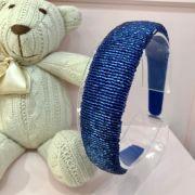 Arquinho Infantil Vidrilho Azul Royal Large Euro Baby