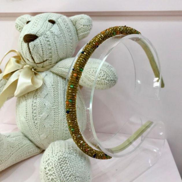 Arquinho Infantil Vidrilhos Dourado Colors Euro Baby