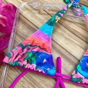Biquini Infantil Amarração 80's Beach Rosa Siri
