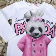 Blusa Infantil Super Chef Panda Momi