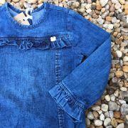Body Infantil Jeans com Babados Mení Kids