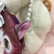 Bolsa Infantil Formato de Gatinho com Lacinho e Pérolas Modelo 2 Euro Baby