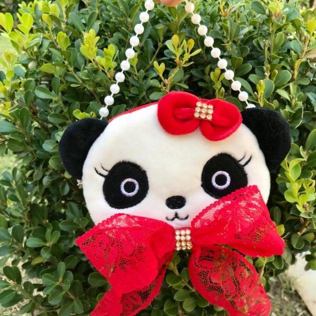 Bolsa Infantil Formato de Panda com Lacinho e Pérolas  Euro Baby