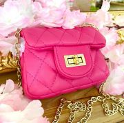 Bolsa Infantil Rosa Pink Chanel Inspired Luxo Euro Baby