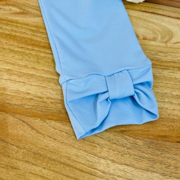 Calça Infantil Azul Maya Detalhe Laço Barra Magnific Yoyo