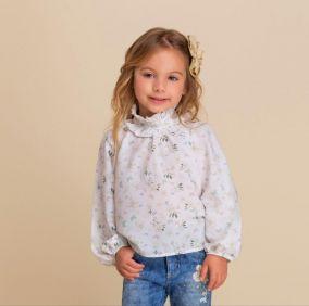 Camisa Infantil Borboletas Floral Petit Cherie