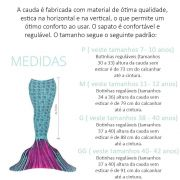 Conjunto Infantil Cauda de Sereia Roxa e Verde Lily Princesa Dos Oceanos Sirenita