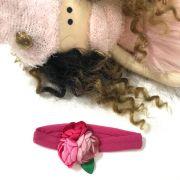 Faixa Infantil Bouquet De Rosas Rosa Pink Roana