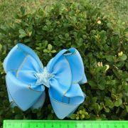 Laço Infantil Formosura Azul Celeste Estrela Euro Baby