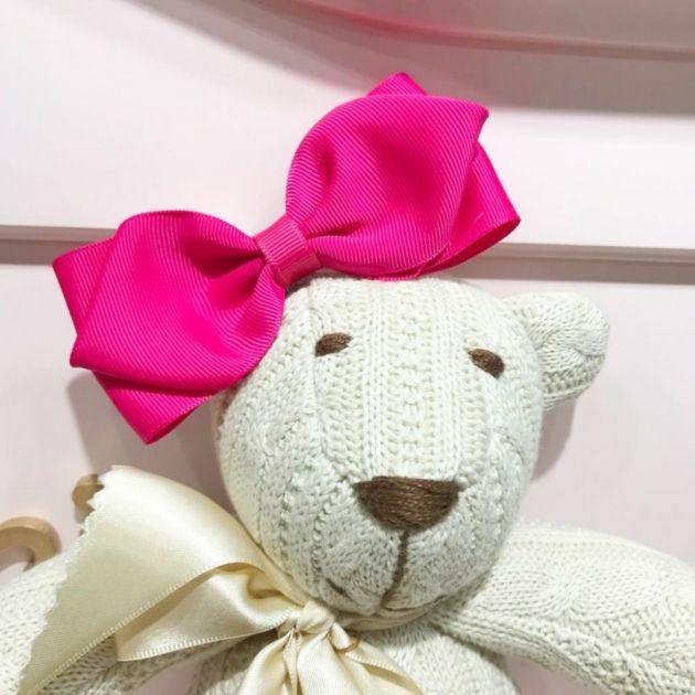 Laço Infantil Gravatinha Gorgurão Rosa Pink 1 Euro Baby