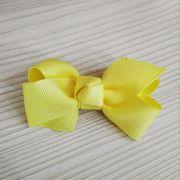 Laço Infantil Nó de Gorgurão Amarelo Pastel Euro Baby