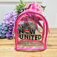 Mochila Infantil Transparente Detalhe Pink Now United Euro Baby