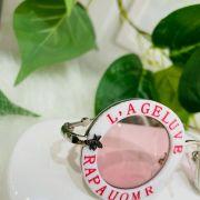 Óculos Infantil Redondo Branco Lente Rosa Par Amour Gucci Inspired Euro Baby