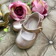 Sapatilha Infantil Sola Bipartida Glam Bronze Xuá Xuá