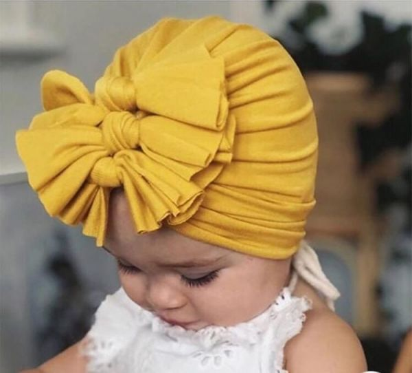 Touca Turbante Infantil Zoe Malha Babados Bordô Euro Baby