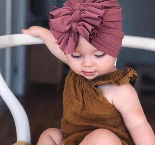 Touca Turbante Infantil Zoe Malha Babados Preta Euro Baby