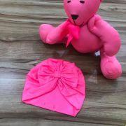 Turbante Infantil Rosa Neon Neoprene Fun Colors Yoyo