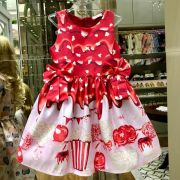 Vestido Infantil Maçã do Amor Mon Sucré
