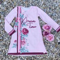 Vestido Infantil Manga Longa com Strass Dream Time Rosa Petit Cherie