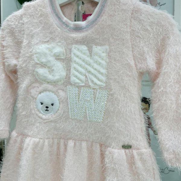 Vestido Infantil Pelo Snow Petit Cherie