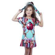 Vestido Infantil Saída de Praia Estampado Joaninha Viva Flor